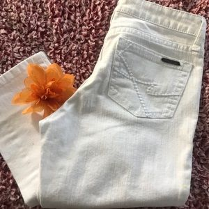 White Kenneth Cole Skinny Jeans 28